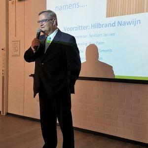 Hilbrand opende en sloot de Donateursdag op zijn eigen karakteristieke wijze af.
